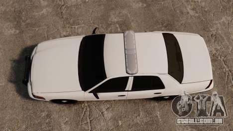 Ford Crown Victoria Unmarked ELS para GTA 4 vista direita