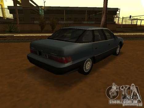 Mercury Sable GS 1989 para GTA San Andreas esquerda vista
