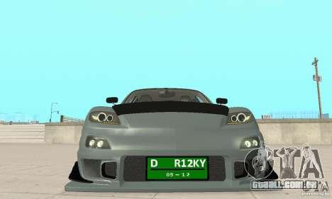 Mazda RX-8 Tuning para vista lateral GTA San Andreas