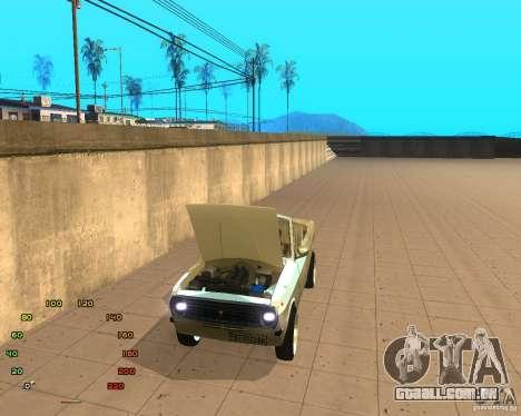 Gaz Volga 2410 el Cabrio para GTA San Andreas traseira esquerda vista