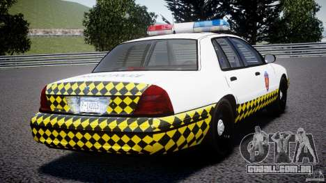 Ford Crown Victoria Karachi Traffic Police para GTA 4 traseira esquerda vista