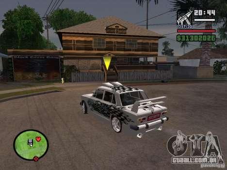 2101 Vaz carro tuning para GTA San Andreas vista direita