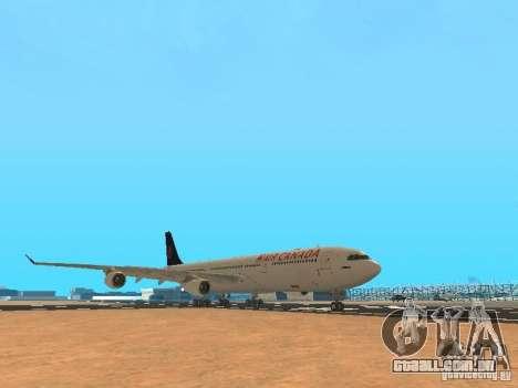 Airbus A340-300 Air Canada para GTA San Andreas esquerda vista