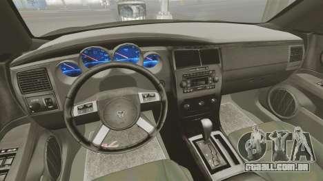 Dodge Charger RT Hemi FBI 2007 para GTA 4 vista de volta