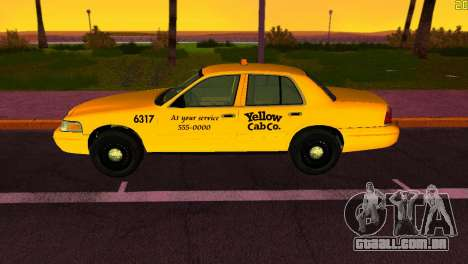 Ford Crown Victoria Taxi 2003 para GTA Vice City vista traseira esquerda
