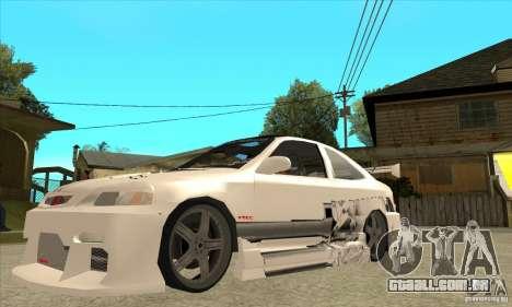 Honda Civic Tuning Tunable para GTA San Andreas vista inferior