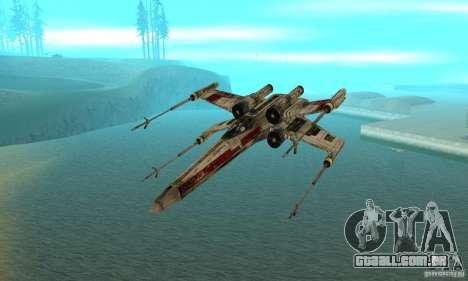 X-WING de Star Wars v1 para GTA San Andreas vista direita