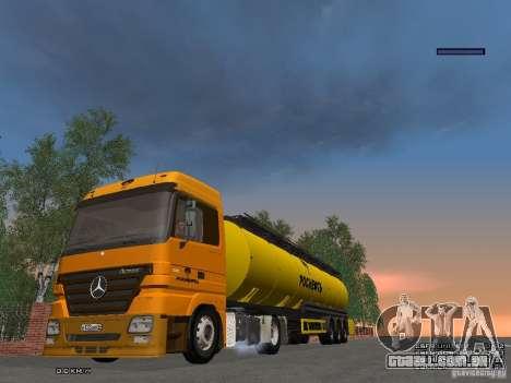 Reboque para Mercedes-Benz Actros Rosneft para GTA San Andreas vista traseira