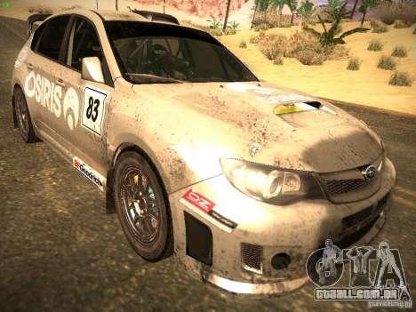 Subaru Impreza Gravel Rally para GTA San Andreas traseira esquerda vista