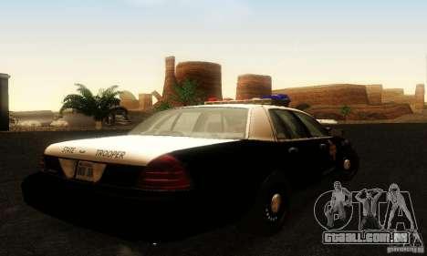 Ford Crown Victoria Texas Police para GTA San Andreas esquerda vista
