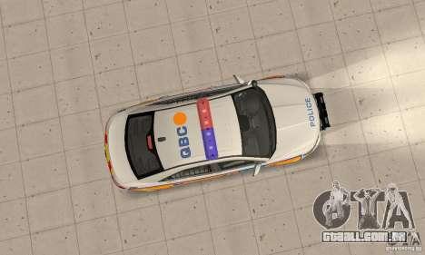 Ford Taurus 2011 Metropolitan Police Car para GTA San Andreas vista direita