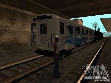 O trem de GTA IV para GTA San Andreas