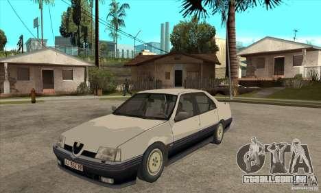 Alfa Romeo 164 para GTA San Andreas vista interior