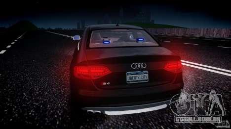 Audi S4 Unmarked [ELS] para GTA 4 interior