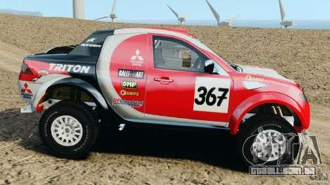Mitsubishi L200 Triton para GTA 4 esquerda vista