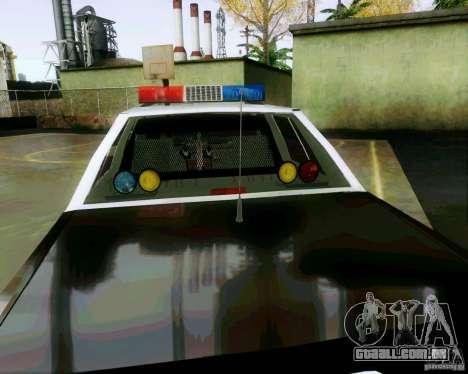 Ford Crown Victoria LTD 1991 SFPD para vista lateral GTA San Andreas
