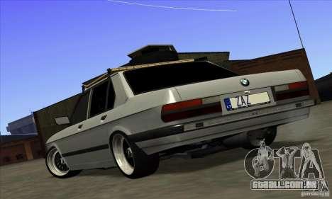 BMW E28 525e RatStyle No1 para GTA San Andreas esquerda vista