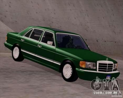 Mercedes-Benz 500SEL para GTA San Andreas traseira esquerda vista