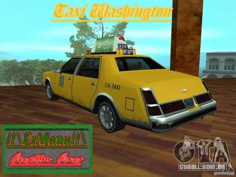 Taxi Washington para GTA San Andreas esquerda vista