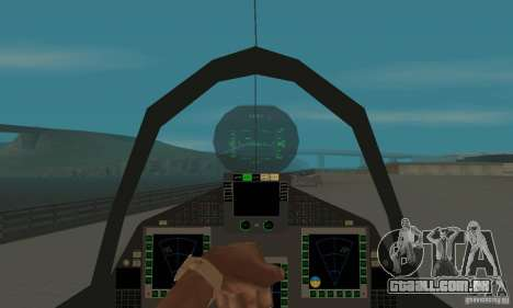 Eurofighter 2010 para GTA San Andreas vista traseira