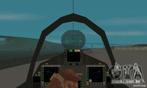 Eurofighter 2010 para GTA San Andreas vista traseira