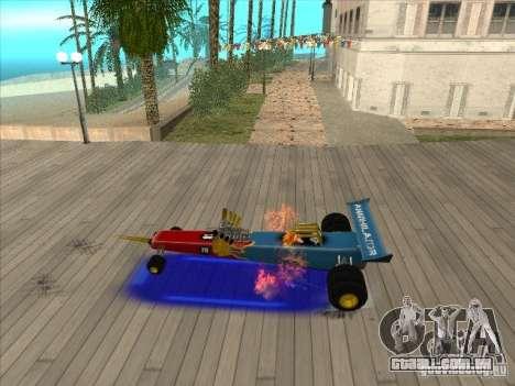 Dragg car para GTA San Andreas vista interior