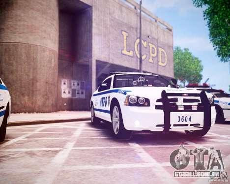 Dodge Charger 2010 NYPD ELS para GTA 4 vista interior