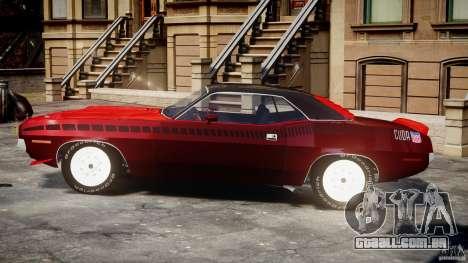 Plymouth Cuda AAR 340 1970 para GTA 4 vista interior