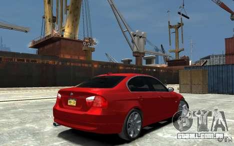 BMW 330i E90 para GTA 4 vista direita