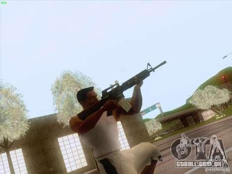 M16A4 para GTA San Andreas segunda tela