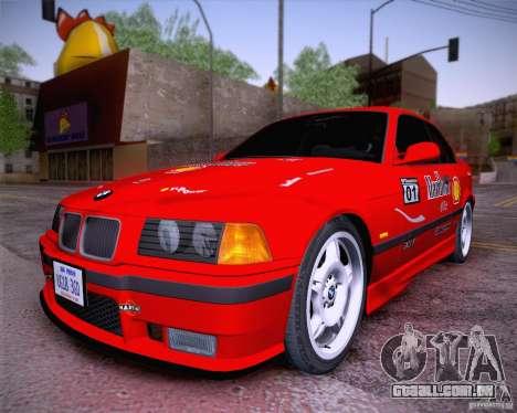 BMW M3 E36 1995 para GTA San Andreas vista traseira