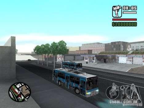 Marcopolo Torino GV Trolebus para GTA San Andreas vista traseira