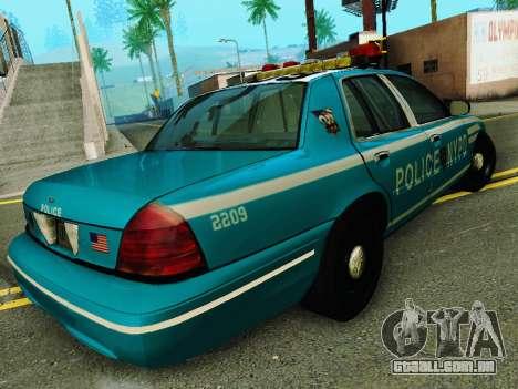 Ford Crown Victoria 2003 NYPD Blue para GTA San Andreas vista direita