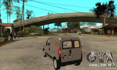 Citroen Nemo 2010 para GTA San Andreas traseira esquerda vista