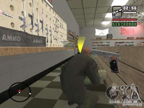 Silverballer do Hitman para GTA San Andreas quinto tela