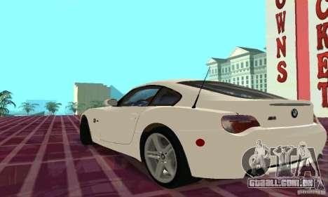 BMW Z4 E85 M para GTA San Andreas interior