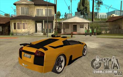 Lamborghini Murcielago para GTA San Andreas vista direita