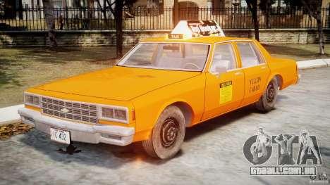 Chevrolet Impala Taxi v2.0 para GTA 4 esquerda vista