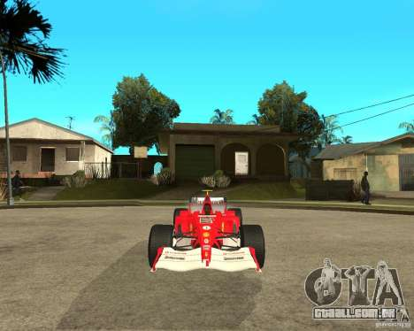 Ferrari F1 para GTA San Andreas vista traseira