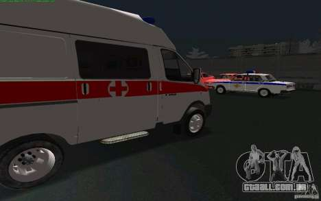 Ambulância de gazela 22172 para GTA San Andreas esquerda vista