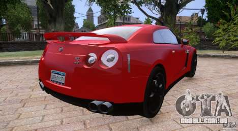 Nissan GTR R35 v1.0 para GTA 4 esquerda vista