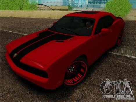 Dodge Quinton Rampage Jackson Challenger SRT8 v1 para GTA San Andreas vista direita