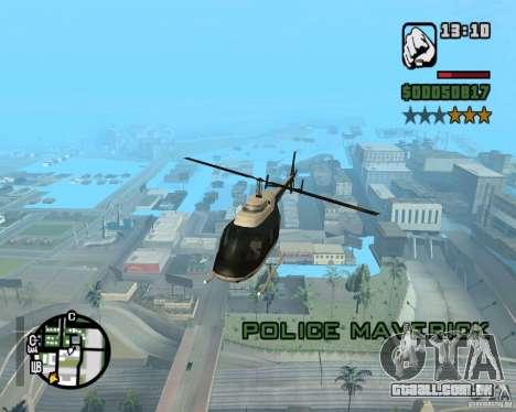 Helicóptero Zaprygivayem para GTA San Andreas quinto tela