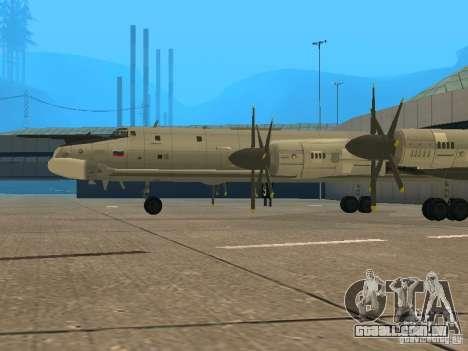 Tu-95 para GTA San Andreas vista direita