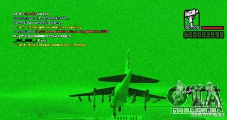Computador de bordo Hydra v1.0a para GTA San Andreas segunda tela