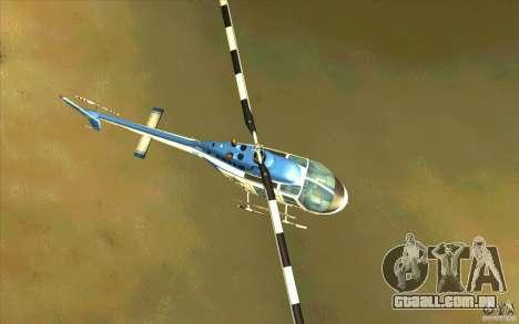 Bell 206 B Police texture1 para GTA San Andreas vista interior