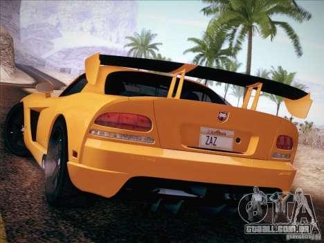 Dodge Viper SRT-10 ACR para GTA San Andreas esquerda vista