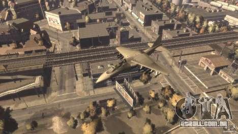 Liberty City força aérea Jet (com engrenagem) para GTA 4 vista direita
