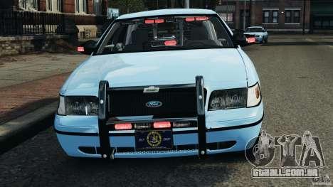Ford Crown Victoria Police Unit [ELS] para GTA 4 interior