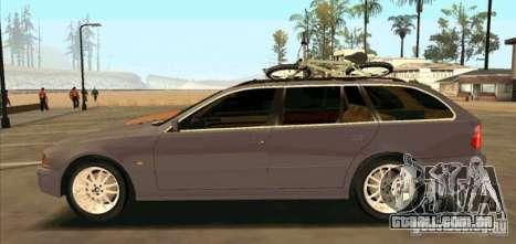 BMW 525 Touring V2 para GTA San Andreas esquerda vista